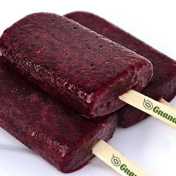 purple berry ice pops