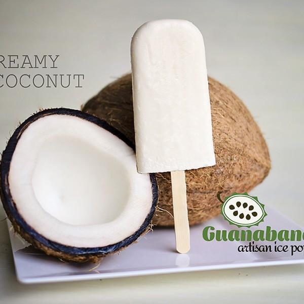 creamy coconut ice pops