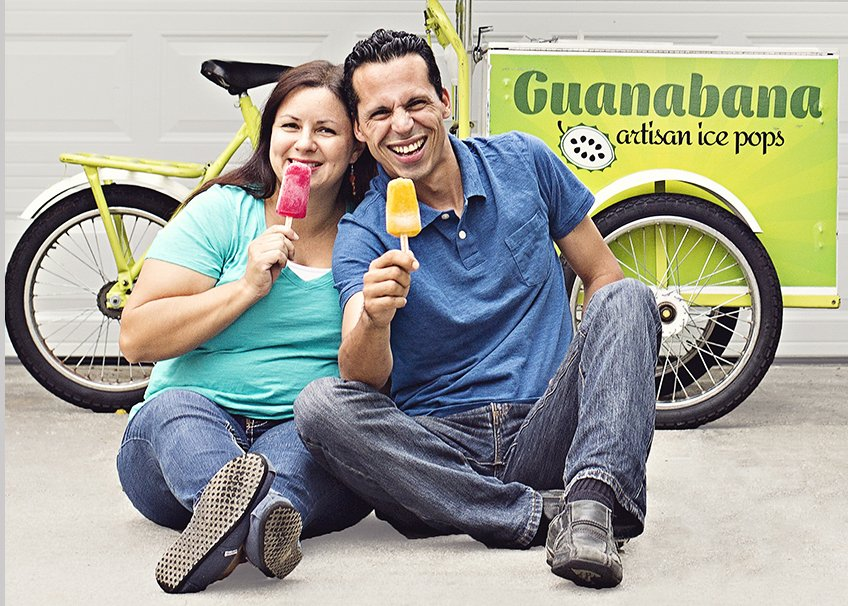 couple eating ice pops