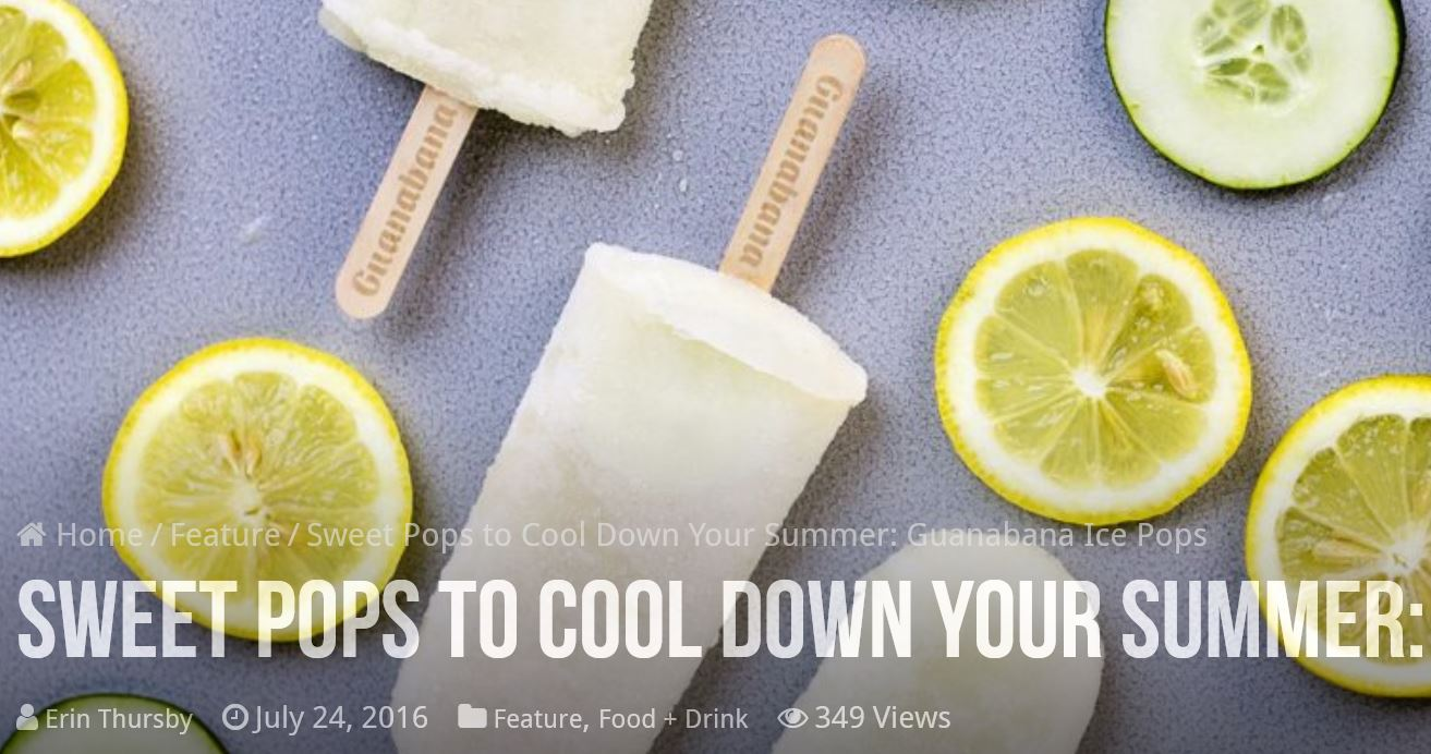 cucumber lemon ice pops