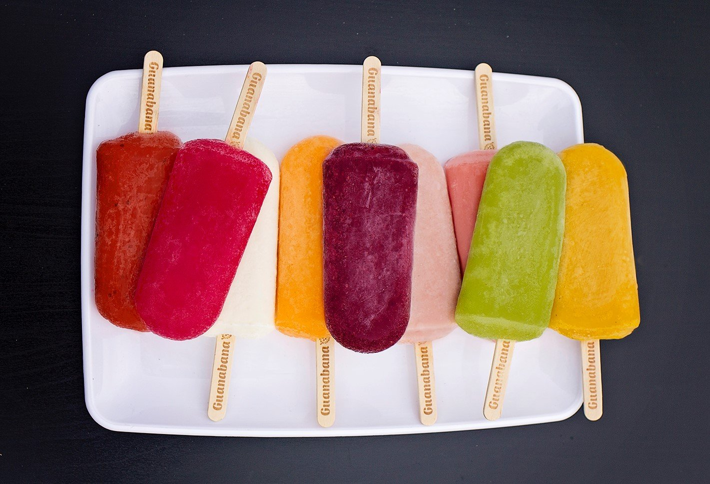 assorted colorful all natural ice pops